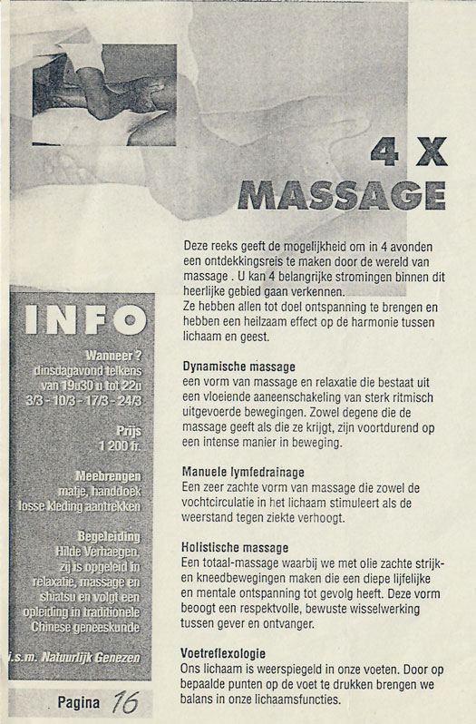Workshop 4x Massage